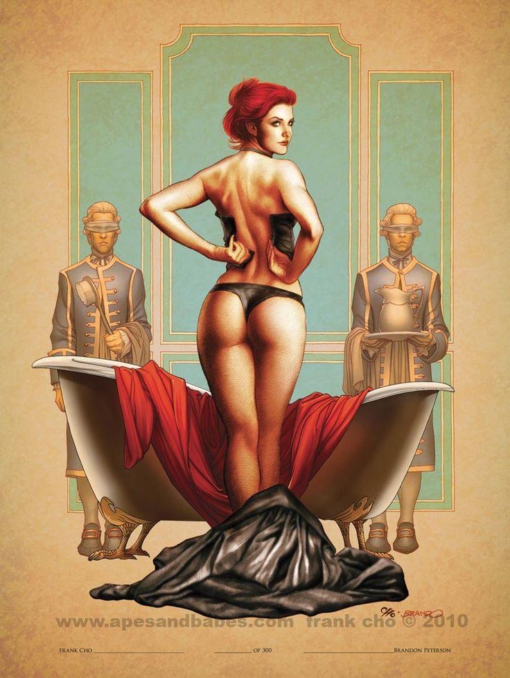 Marvel Spider Girl Hot | Queen's bath Frank Cho SanDiegoPrint2010color