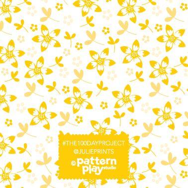 Surface Pattern design - yellow floral by Julie Harrison www.patternplaystudio.com