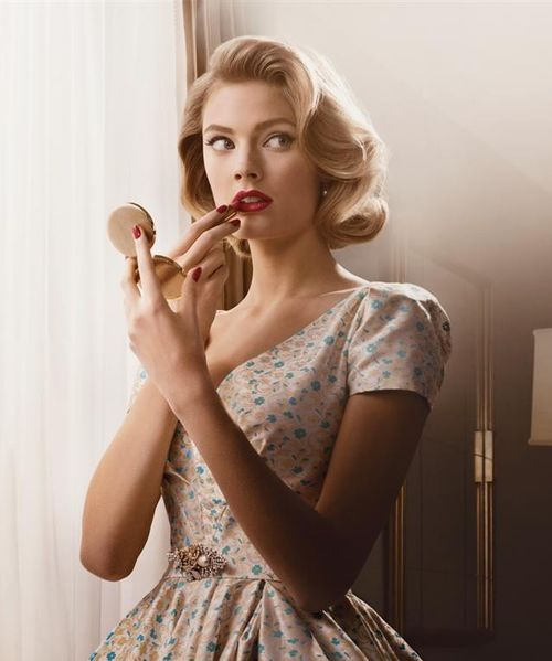 vintage::old hollywood/red lips