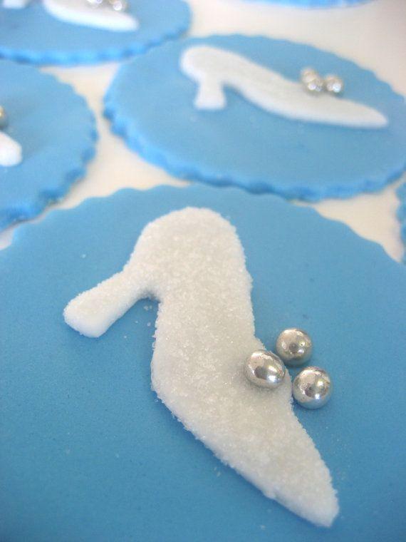 Cinderella Princess Cupcake Toppers - Edible Fondant - Glass Slipper on Etsy, $26.23 AUD
