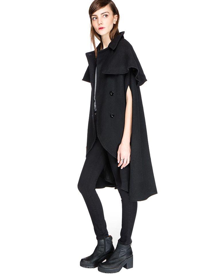 Sasha Wool Cape $158.00