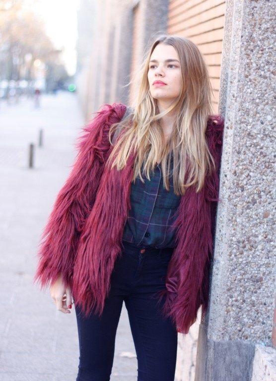 Time for Fashion » Style Consultancy Abrigo de pelo burgundy