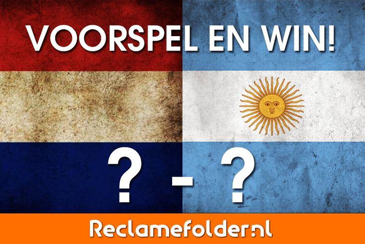 Wat denk jij dat de eindscore wordt vanavond? Voorspel mee en win één van de vijf Reclamefolder-shoppers . Succes! #WK #Nederlands #elftal