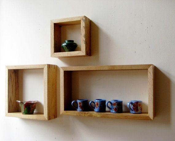 Box shelves,box shelf,wall shelves,floating shelves,rustic shelves,modular  shelves,stackable shelves,square box shelves,square shelves - 25+ Best Ideas About Wall Boxes On Pinterest Small Wooden Boxes