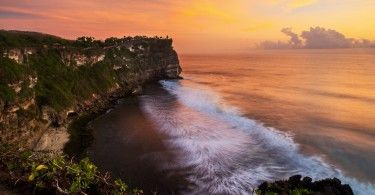 Panorama Sunset di Pura Uluwatu. Photo Credit: Navin Sharma Photography