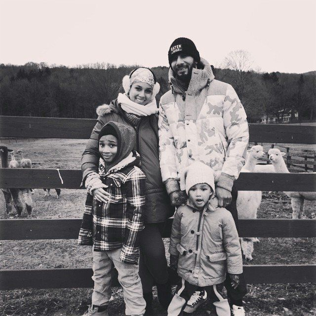 Pin for Later: How Are Your Favorite Celebrities Spending Thanksgiving Weekend?  Swizz Beatz and Alicia Keys visited a farm with their kids.