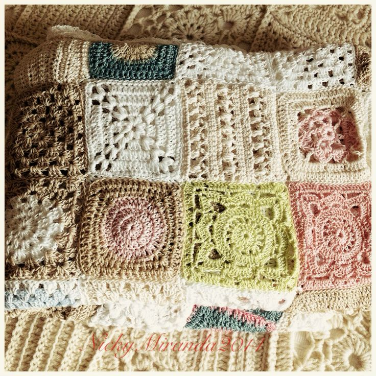 Beautiful crocheted cotton blanket Crochet - blankets ...