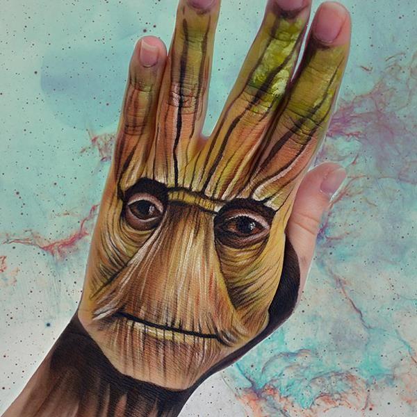 Sanatlı Bi Blog Yapraklara Muhteşem Manzara Resimleri Yapan Genç Yetenek: 'Rayne Coldkiss' 10