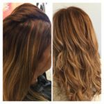 Hairdresser Sally  hairextensions beforeandafter colourcorrection