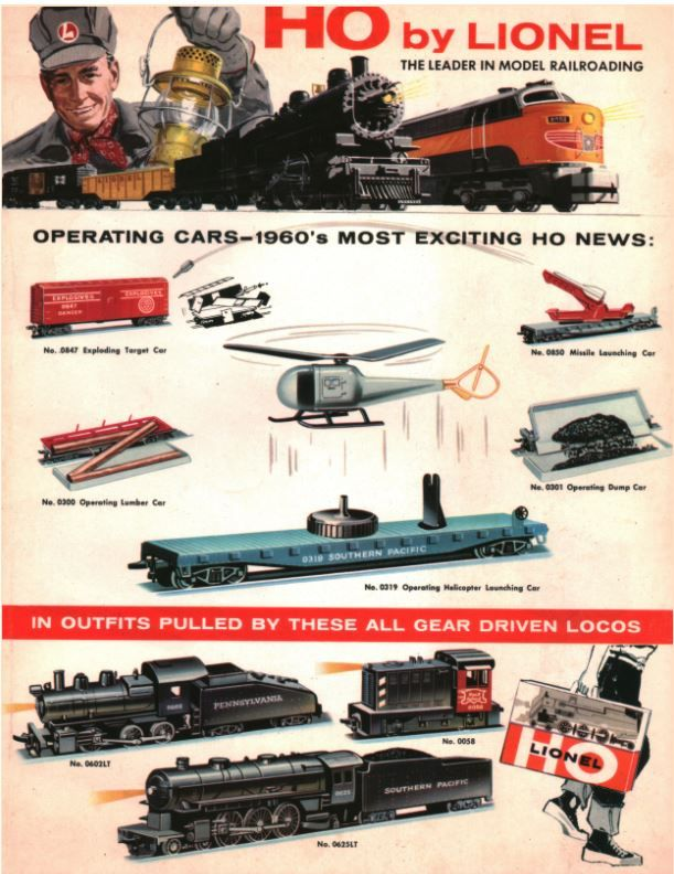 Lionel Trains catalog cover 1960