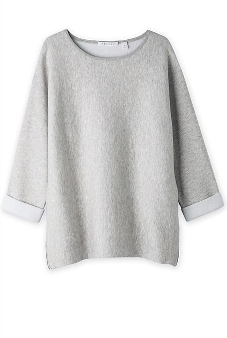 TRENERY Cotton Cashmere Double Knit $149 Try XXS (Also available in Blue)