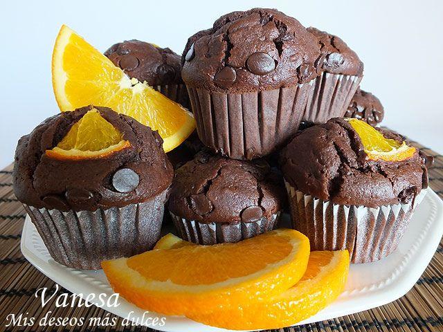 Mis+deseos+más+dulces+|+Vanesa+Sierra:+Muffins+de+chocolate+y+naranja