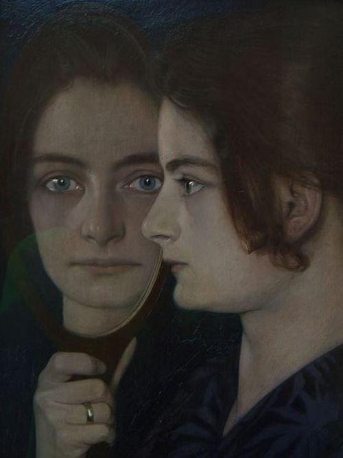 chimneyfish:   Reflection, 1901 Oskar Zwintscher