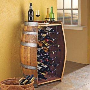 Découvrez une solution simple pour rangement vos bouteilles de vin dans un vrai tonneau ou barrique.