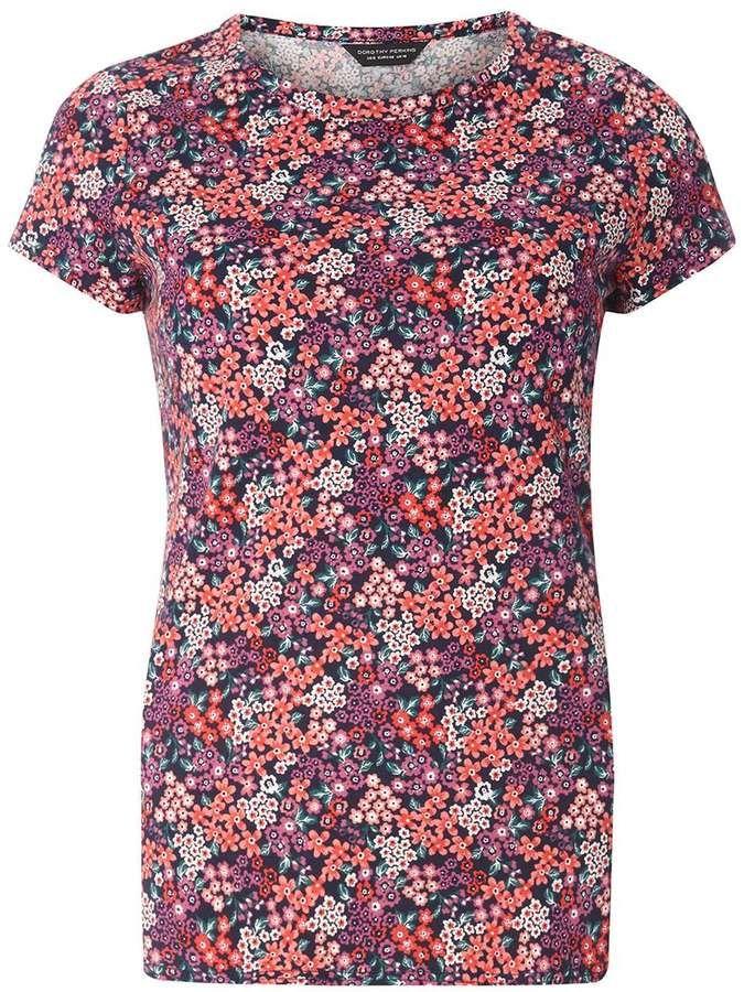 Multi Coloured Ditsy Print T-Shirt