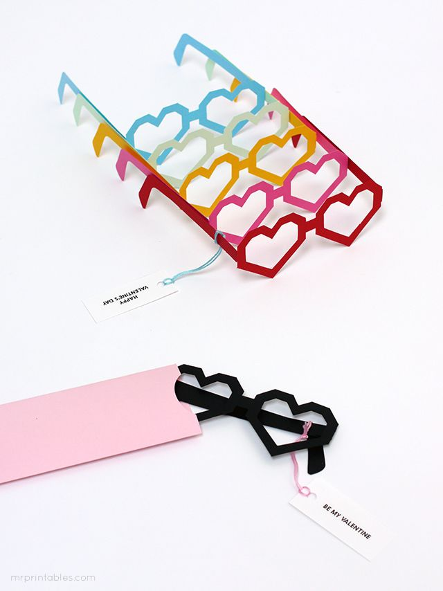 Heart Glasses Valentine Cards / glasses for classes! : ) Zet je liefdevolle bril op! Kijk met liefde & respect