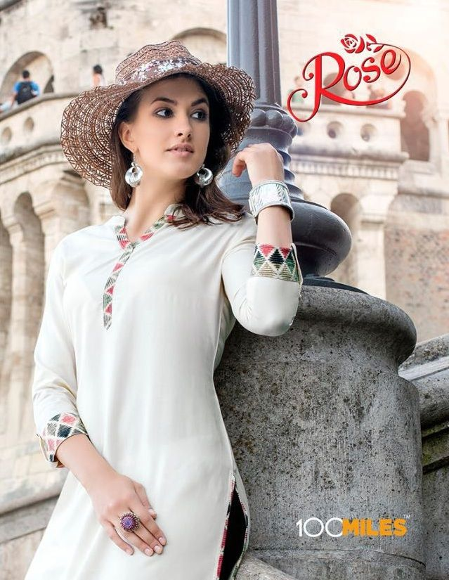 Shop Now Latest Designer Casual #Kurtis Catalogs by #100MilesRose Wholesale Supplier only at Textiledeal.in
