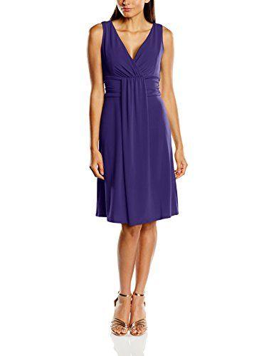 Swing - Robe cocktail drappé - Femme - Violet (bleu violet 420) - FR ... e358cb68113