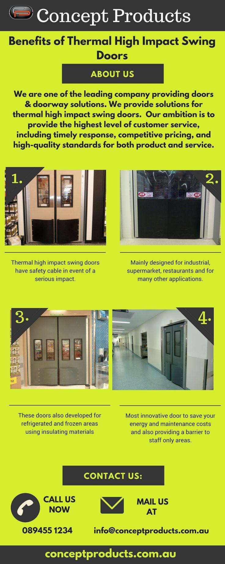 Supermarket Swinging Doors Thermal Supermarket Swinging Doors