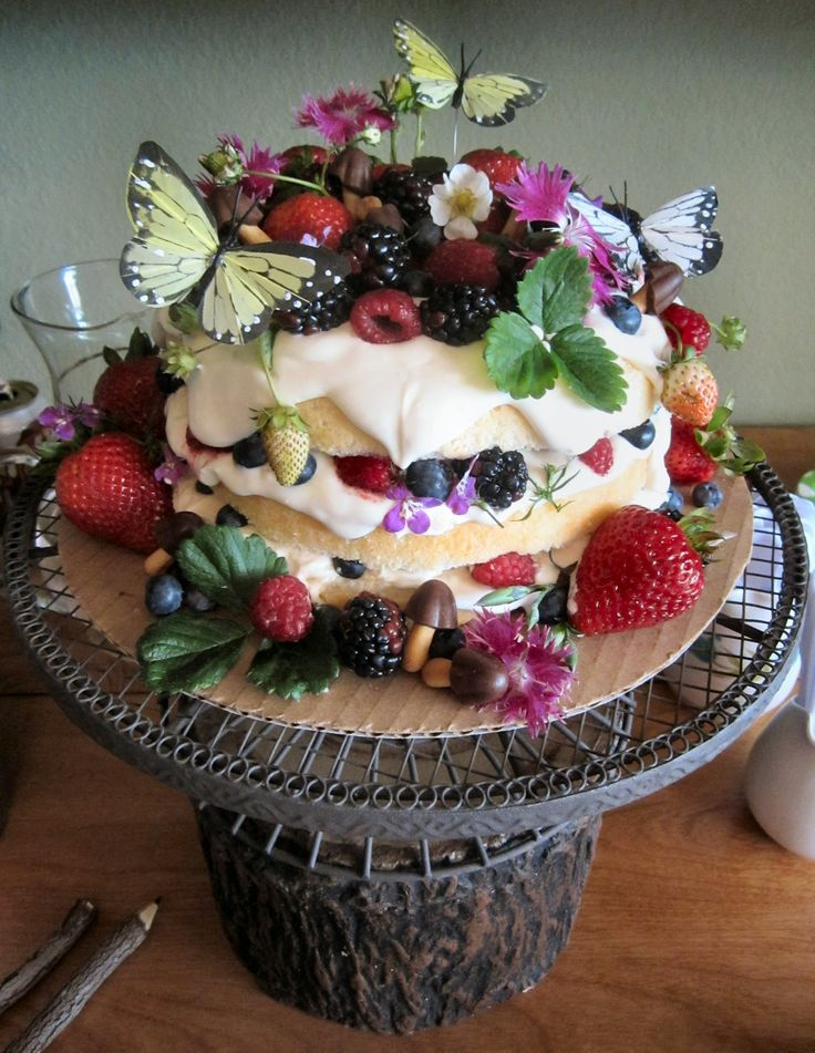 Woodland Fairy Party Cake - Made by Meme  ~ Perhaps not decadent...but quite adorable & creative ~