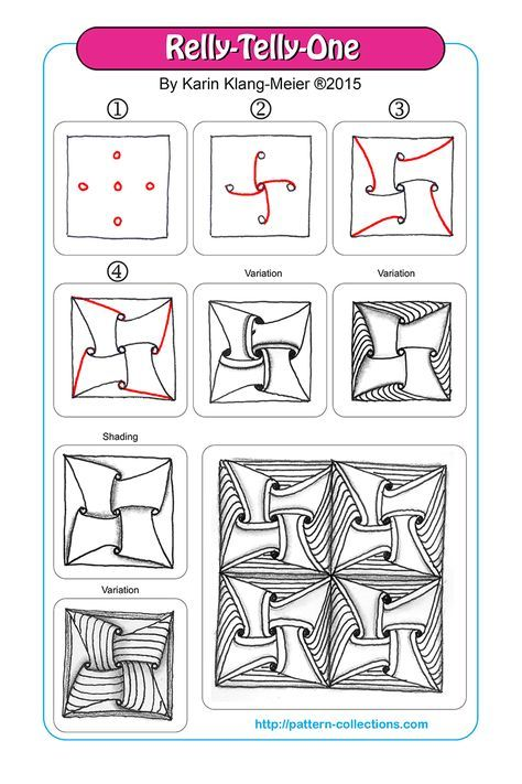 17 best images about zentangle tutorials on pinterest for Doodle tutorial