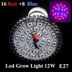 #Banggood Рассада свет рост E27 16 красный 8 синий Сад Растение теплица led лампы расти Plant 8w (1017526) #SuperDeals