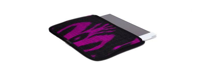 Чехол для Apple iPad Mini, розовый с черным в черной окантовке