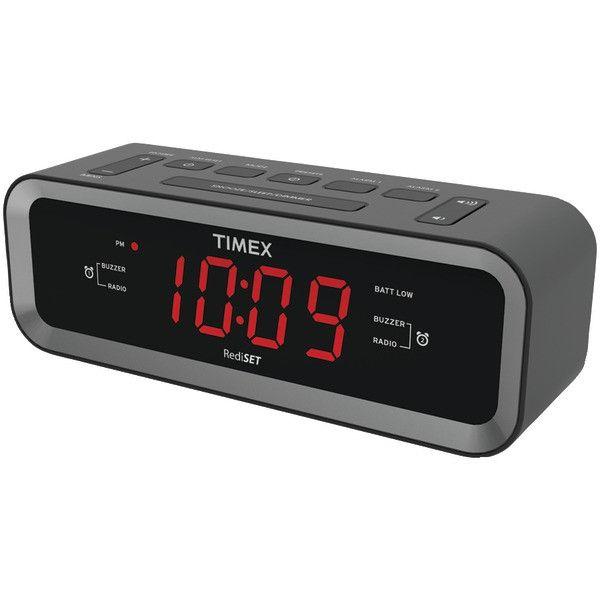 Timex T236B Rediset Am/Fm Dual Alarm Clock Radio With Usb Charge Port