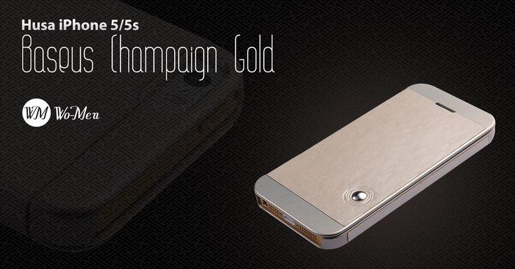 Husa Baseus Champaign Gold - Design modern si elegant - un plus de stil pentru iPhone 5/5S!