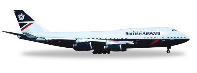 "1/500 Herpa British Airways (Landor) Boeing 747-400 Registration: G-BNLA ""City of London"" 528030 IN STOCK - item usually ships within 24 hours Length 5.57"" Wingspan 5.07"" Each model is very collectibl"
