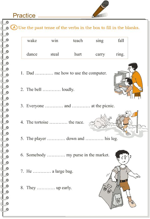 Worksheets Past Tense Worksheets For Grade 2 1000 images about grade 3 grammar lessons 1 16 on pinterest lesson 9 verbs the simple past tense 2