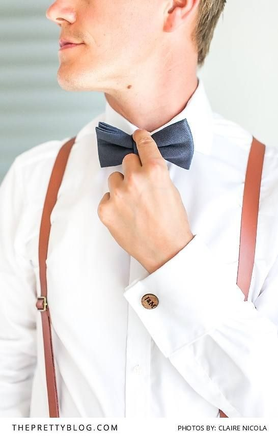 Brown Leather Suspenders for a Vintage Themed Wedding | Photography by Claire Nicola