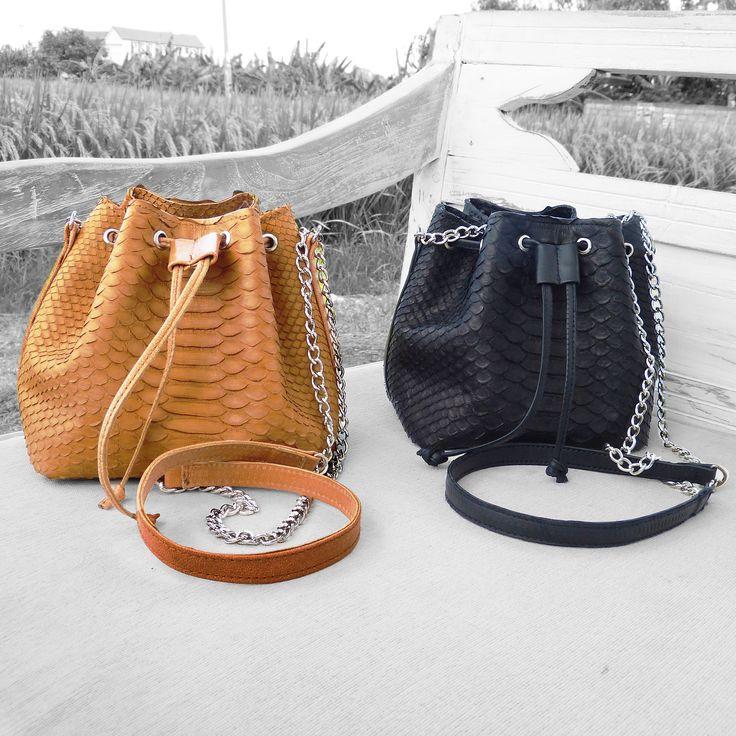 We love the CARA BAG and so do you !  limited edition buket python bag handmade