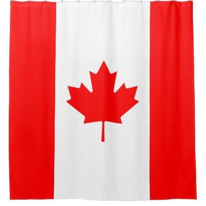 Patriotic National Flag Of CANADA Shower Curtain   Diy Cyo Personalize Design  Idea New Special Custom