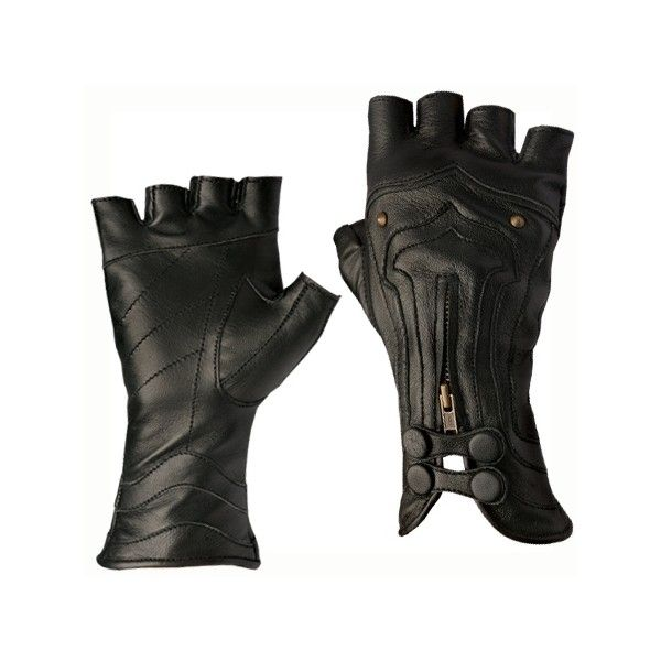 Steam Trunk Archery Leather Gloves (€135) ❤ liked on Polyvore featuring accessories, gloves, steampunk, luvas, steampunk gloves, leather gloves, real leather gloves, steampunk leather gloves and zipper gloves