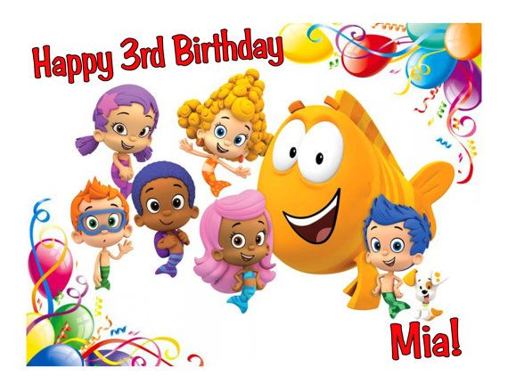 Bubble Guppies edible cake image cake topper by CakesForCures, $7.75