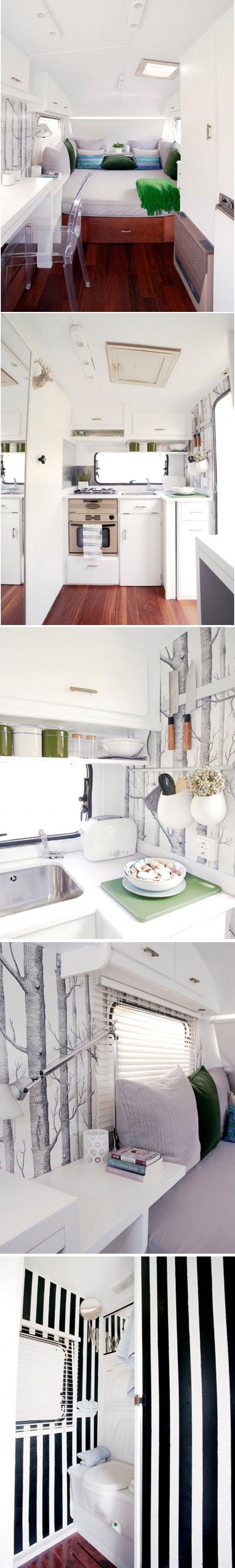 Gypsy Interior Design Dress My Wagon| Serafini Amelia| RV Travel Trailer Design Inspiration-interior of a camper.