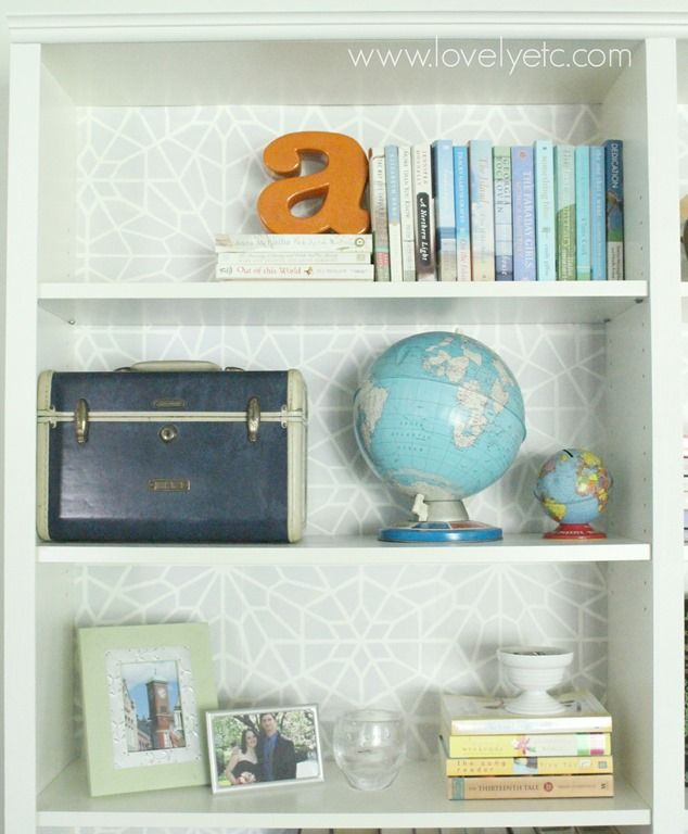 Ikea hack: Moroccan stenciled bookcases - Lovely Etc.