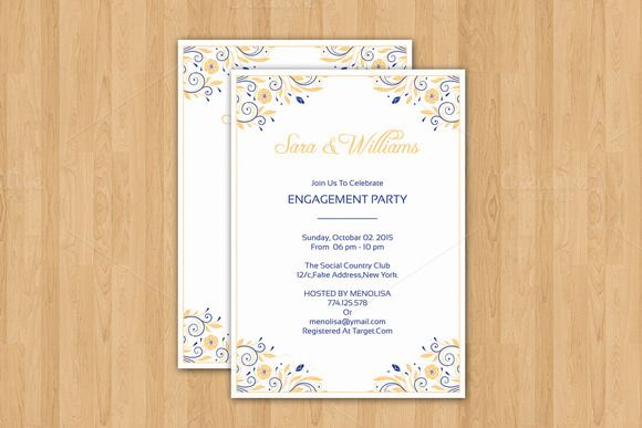 21 best 20+ Engagement Invitation Template Word, InDesign and PSD - party invitation template word
