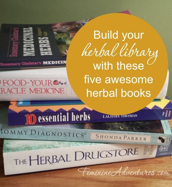 Build your herbal library with these awesome five herbal medicinal books. Learn how to make salves, tinctures, and what herb to use when!