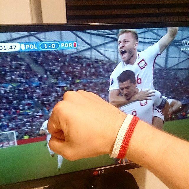 Go Poland!  Gooooooooool! 🙌🙌🙌👏💪🇵🇱👌#motkovelove #crochet #gopoland #poland #euro2016 #lewandowski #gol