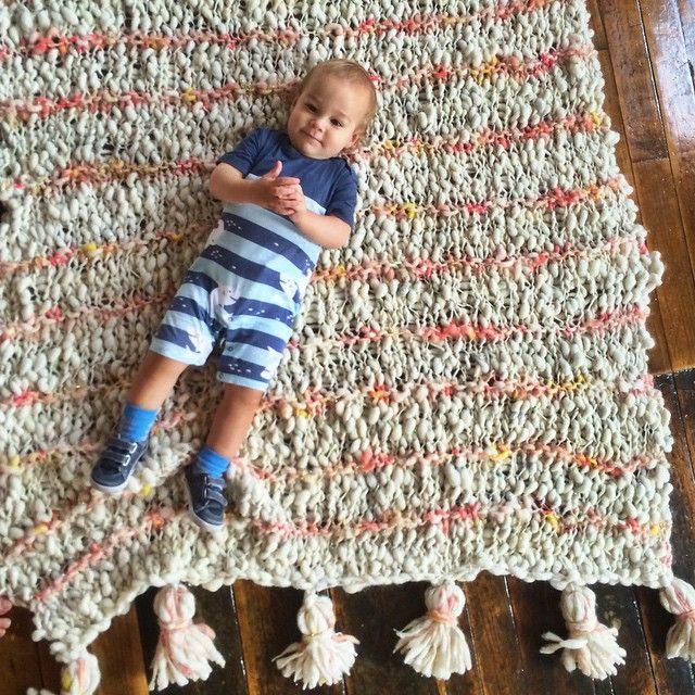 Just a boy and a gigantic knit blanket  finally finished it! I think Tuck approves. #knitcollage