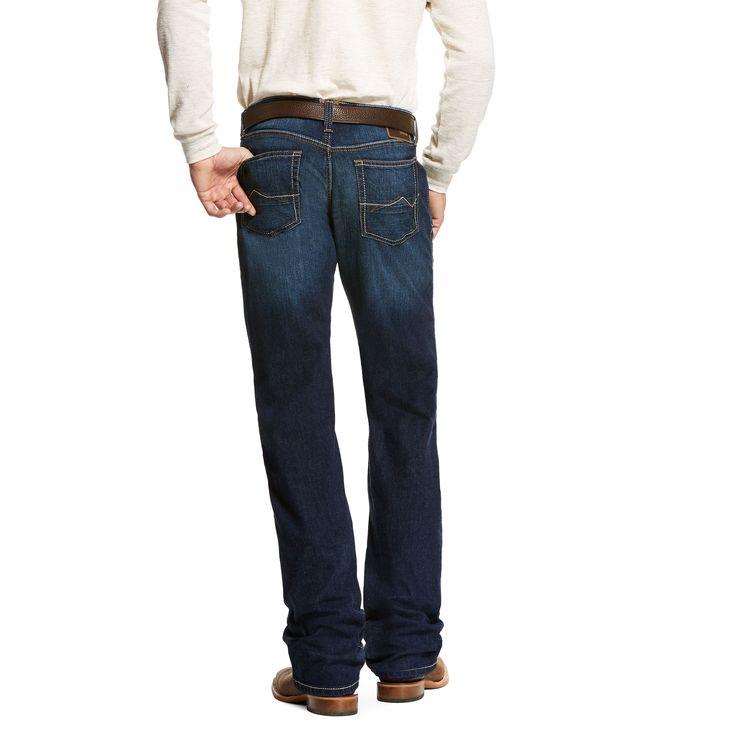 Men's M5 Slim TekStretch Wilton Stackable Straight Leg Jeans in Cash, 34 X 38 by Ariat