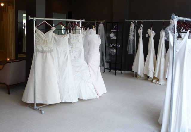 Wedding Boutique Clothing Racks Made with Kee Klamp Fittings