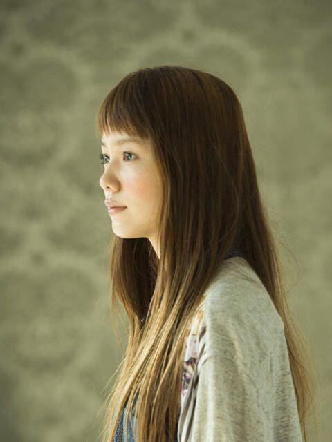 Aoi miyazaki / haircut / short bangs & long hair