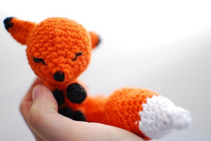 Hand Made Foxy. See more #knitted toys here: http://clippings.com/folders/knitted-toys-9402