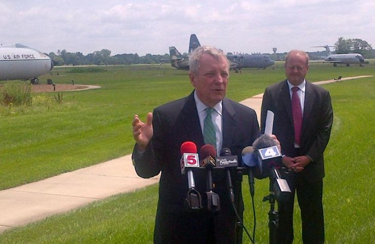I was at Scott Air Force Base discussing Illinois' bid to house the new National Geospatial-Intelligence Agency facility