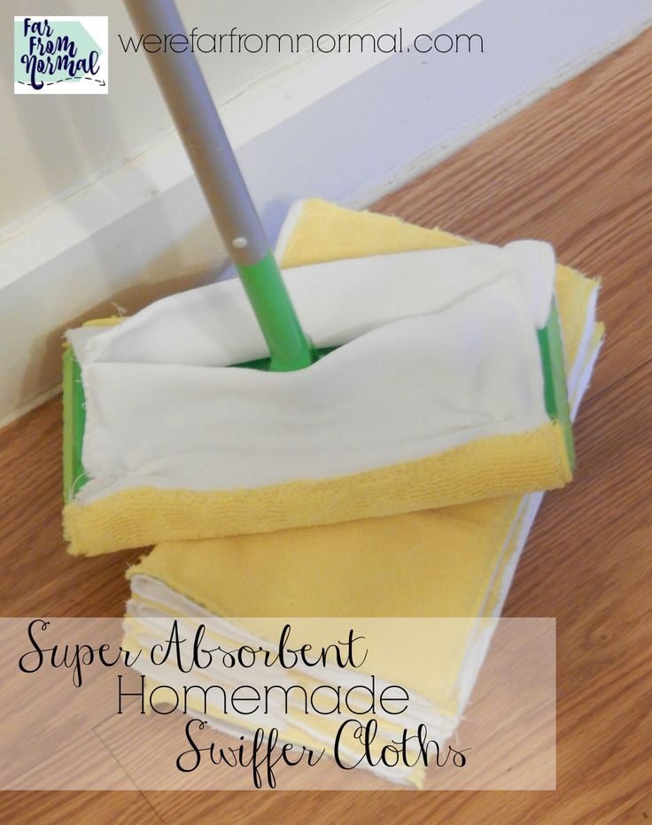 Is keeping your floor clean a challenge? Do you go through disposable floor cloths like crazy?? My homemade Swiffer cloths get the job done & are reusable!