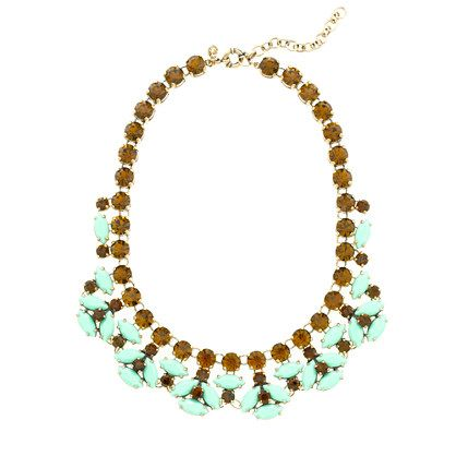 J.Crew - Mint stone necklace. I've long had a secret obsession with all things J. Crew.