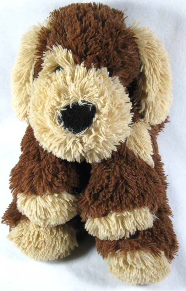 Circo Plush Dog Floppy Shaggy Brown Tan Puppy Wearing Bandana Soft